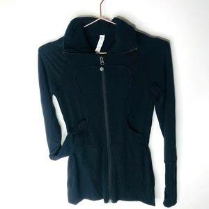 Lululemon Long Lulu Lux Black Women's Jacket Sz 4